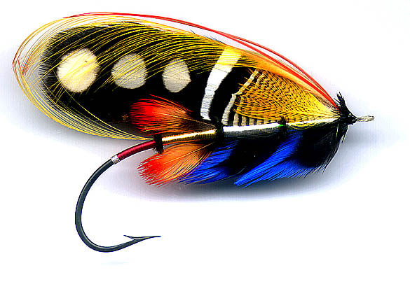 Salmon fly black argus for Salon fly